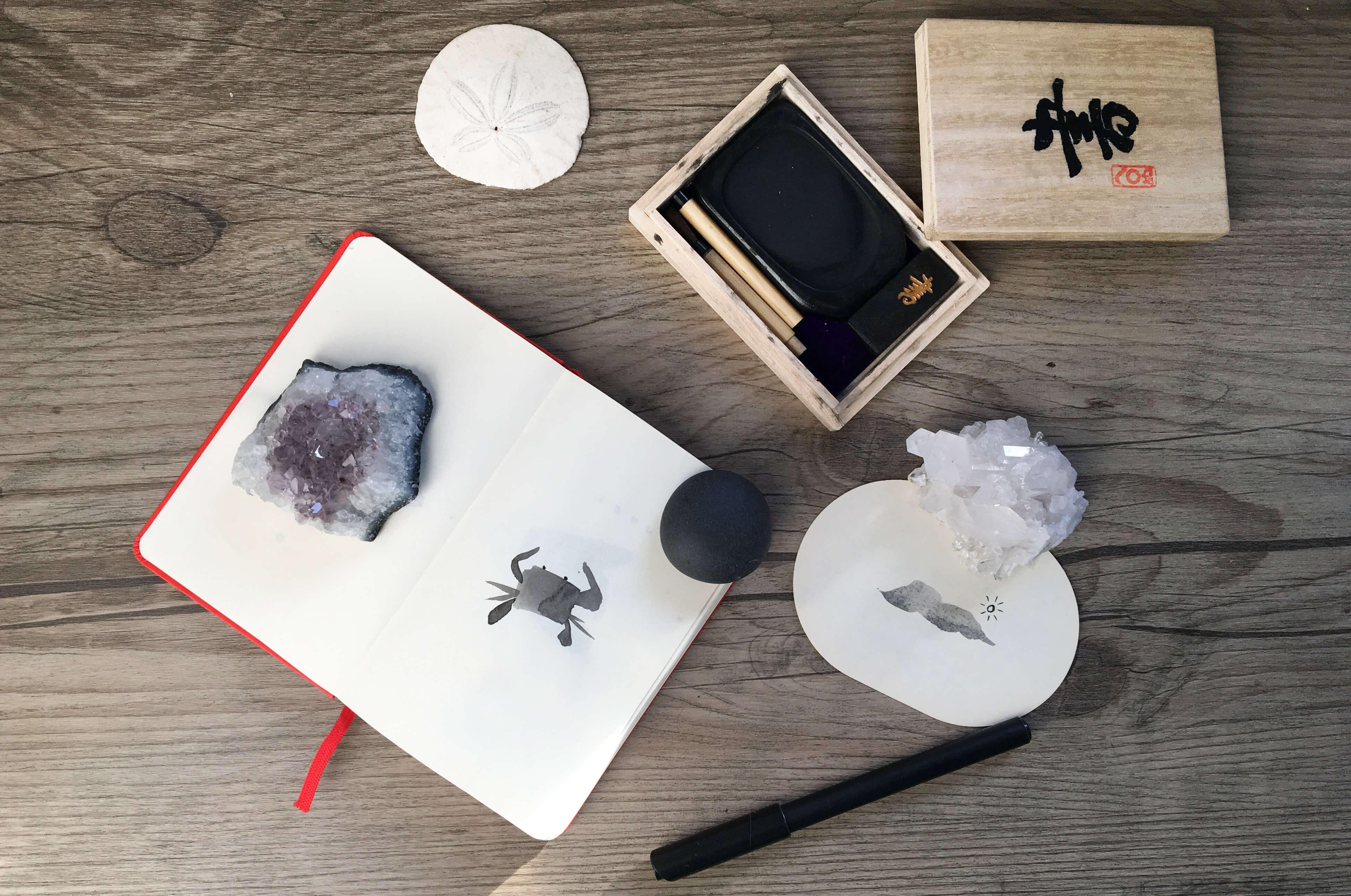 Nicole Hammonds Freelance designer desk